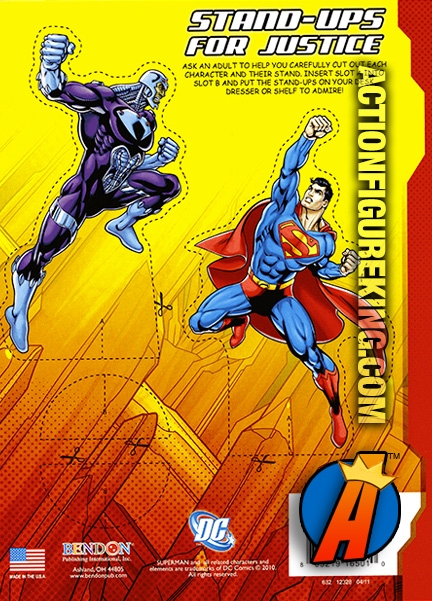 Rear Cover Artwork From This Superman Jumbo Coloring And Activity Book