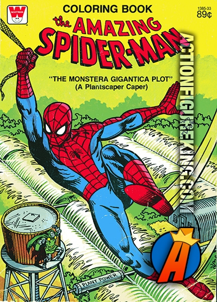 Spider-Man Monstera Gigantica Plot Whitman Coloring Book