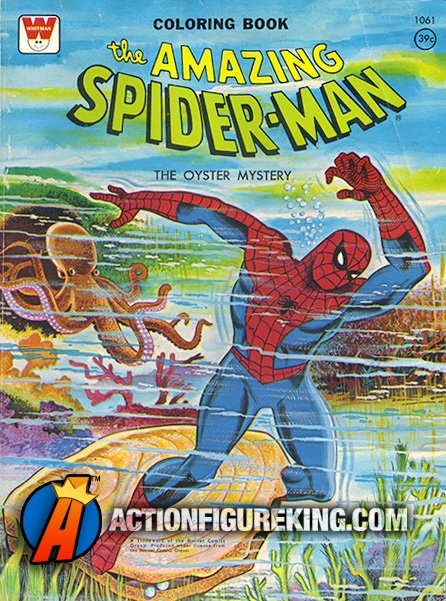 Spider-Man The Oyster Mystery Whitman Coloring Book
