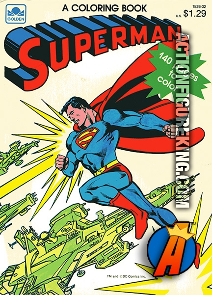 140-Page Superman Coloring Book from Golden