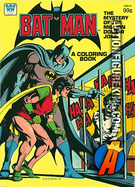 Batman The Mystery of the Million Dollar Joke Whitman Coloring Book