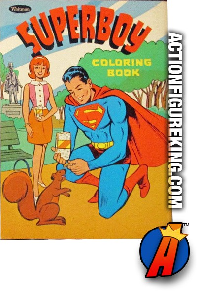 Vintage 1967 DC COMICS SUPERBOY Coloring Book from WHITMAN