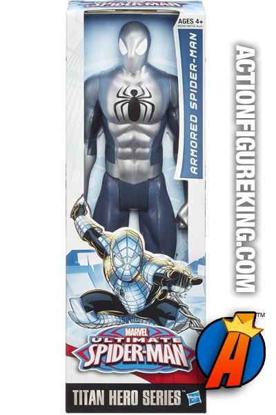 Marvel Hasbro Spiderman Titan Hero Series Silver And Black 12 Inch New