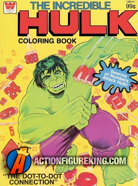 1979 Incredible Hulk Coloring Book from Whitman