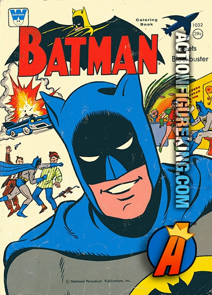 1966 Batman Meets the Blockbuster Whitman Coloring Book