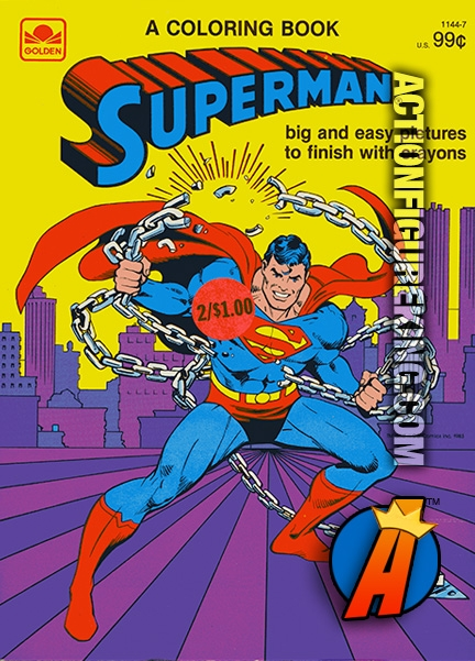Superman Coloring Book from Golden 1144-7