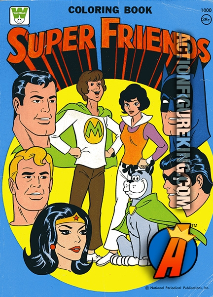 Superfriends 1975 Whitman Coloring Book