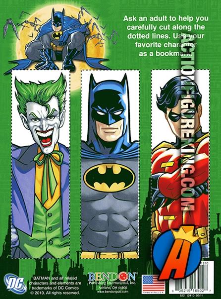 Rear Artwork From This Bendon Batman Jumbo Activity Book