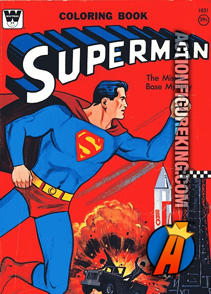 Superman The Missile Base Mystery Whitman Coloring Book