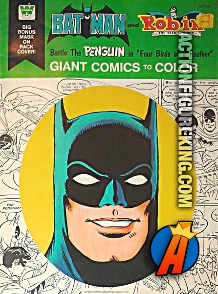 Batman Versus Penguin In Four Birds Of A Feather Coloring Book From Whitman