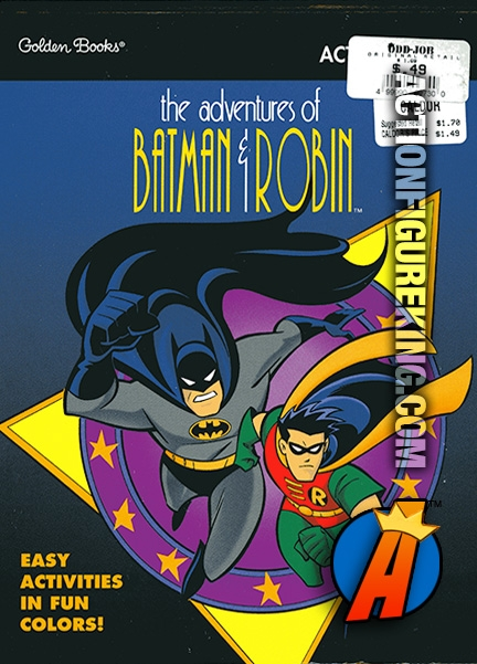 The Adventures Of Batman And Robin Activity Book From Golden