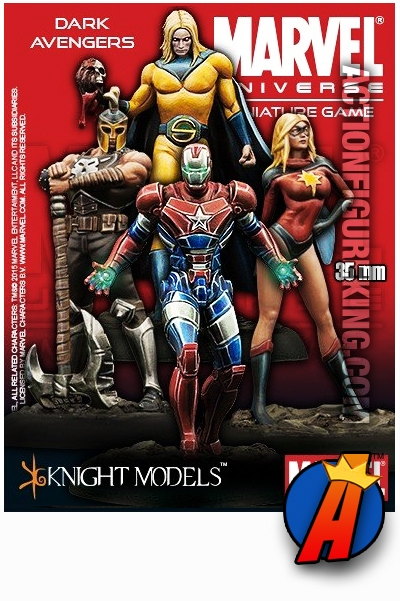 MARVEL UNIVERSE Knight Models DARK AVENGERS Metal Minature
