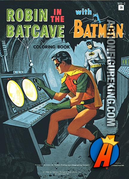 Robin in the Batcave with Batman Coloring Book from Watkins Strathmore