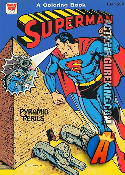 Superman Pyramid Perils Whitman Coloring Book