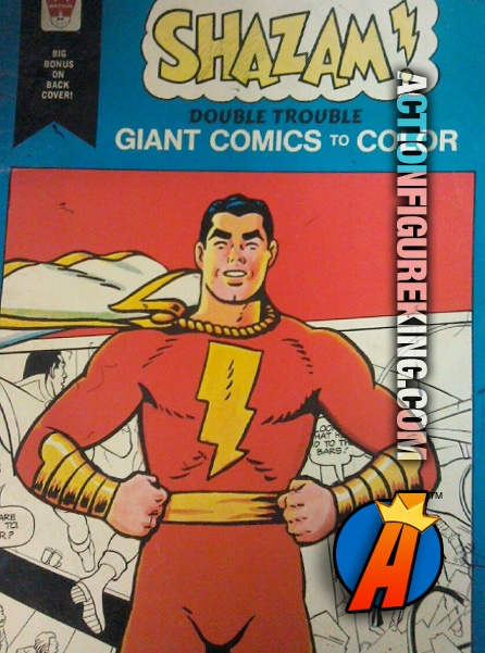Shazam! in Double Trouble Giant Comics to Color Whitman Coloring Book