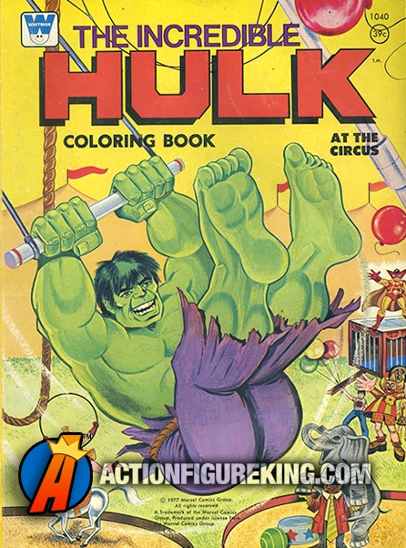 1977 Incredible Hulk Coloring Book from Whitman