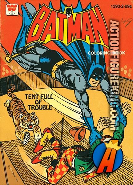 Batman 1979 Tent Full of Trouble Whitman Coloring Book