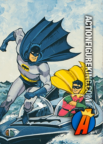 Rear Artwork From This Vintage Adventures Of Batman Coloring Book