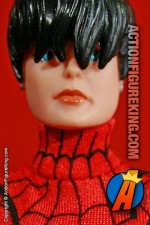 Marvel Famous Cover Series 8 inch Spider-Girl action figure with authentic fabric outfit from Toybiz.