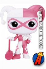 Funko Pop! Heroes Hot Topic Pink and White variant HARLEY QUINN figure.