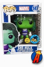 Funko Pop! Marvel Comikaze Exclusive GITD SHE-HULK Figure No. 147.