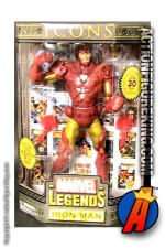 12 inch Marvel Legends Gold Variant Iron Man action figure from their Icons series.
