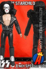 Fully articulated Kiss Series 2 8-inch The Starchild Bandit variant action figure with removable fabric outfit.