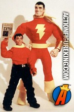 Custom 9-inch scale CAPTAIN MARVEL (SHAZAM!) Action Figure with alter ego BILLY BATSON.