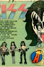 Mego sixth scale KISS actionf figures comic advertisement.