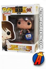 Funko Pop! TV THE WALKING DEAD variant Bloody MAGGIE excluisve figure.