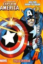 The Courageous Captain America Super Soldier coloring book.