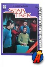 Vintage 1982 STAR TREK Coloring Book from Merrigold Press.