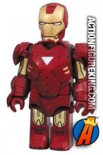 Minature Medicom Kubrick articulated Iron Man Mark VI action figure.