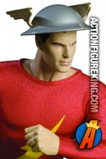 13 inch DC Direct fully articulated Golden Age Flash action figure with authentic fabric uniform.