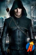 Stephen Amell as Green Arrow on the CW series.