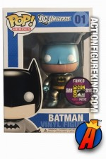2010 San Diego Comicon Exclusive Funko Pop! Heroes Metallic  BATMAN figure.