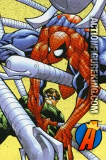 Stylized comic art for this RoseArt Spider-Man Tangled Jigsaw Puzzle.