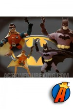Custom Golden Age BATMAN and ROBIN Mego-style Action Figures by Jeff Brennan.