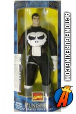 Rare 12-inch Punisher action figure with authentic fabric outfit from Toybiz.