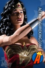 DC Direct presents this fully articulated Wonder Woman action figure with removable cloth uniform.