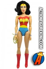 LIMITED EDITION JUSTICE LEAGUE of AMERICA WONDER WOMAN FIGURE with cloth outfit FROM MEGO.