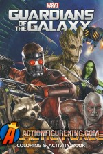 Guardians of the Galaxy Galactic Force coloring and activity book.