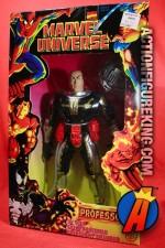 Marvel Universe 10-inch Professor X figure utilizes an older Iron Man body and a new head sculpt.