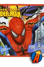 Nice tin package for this Spider-Man Spider-Sense 150-Piece Foil Jigsaw Puzzle from Cardinal.