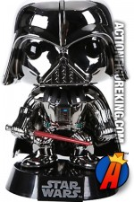 POP! STAR WARS Hot Topic Exclusive CHROME DARTH VADER figure No. 1.