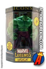 Rare and oversized Marvel Legends 12 inch Incredible Hulk action figure from their Icons series.