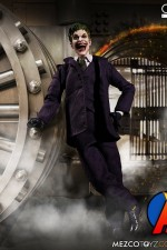 Mezco 1:12 Scale JOKER Action Figure with Cloth Uniform.