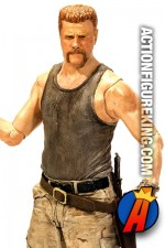 A detaield view of this Series 6 Walking Dead Abraham Ford action figure from McFarlane Toys.