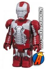 Miniature Medicom Kubrick articulated Iron Man 2 Silver Centurion action figure.
