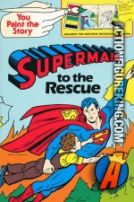 Superman to the Rescue Paint the Story book from Golden.